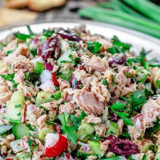 Mediterranean Tuna Salad with a Zesty Dijon Mustard Vinaigrette.