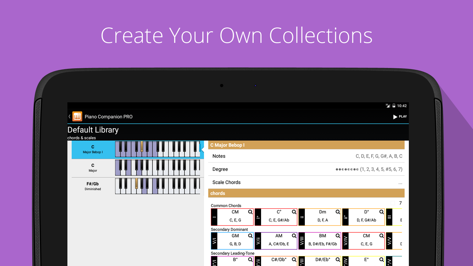 Piano Chords, Scales Companion- screenshot