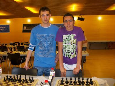 Els escaquistes del nostre centre durant el campionat