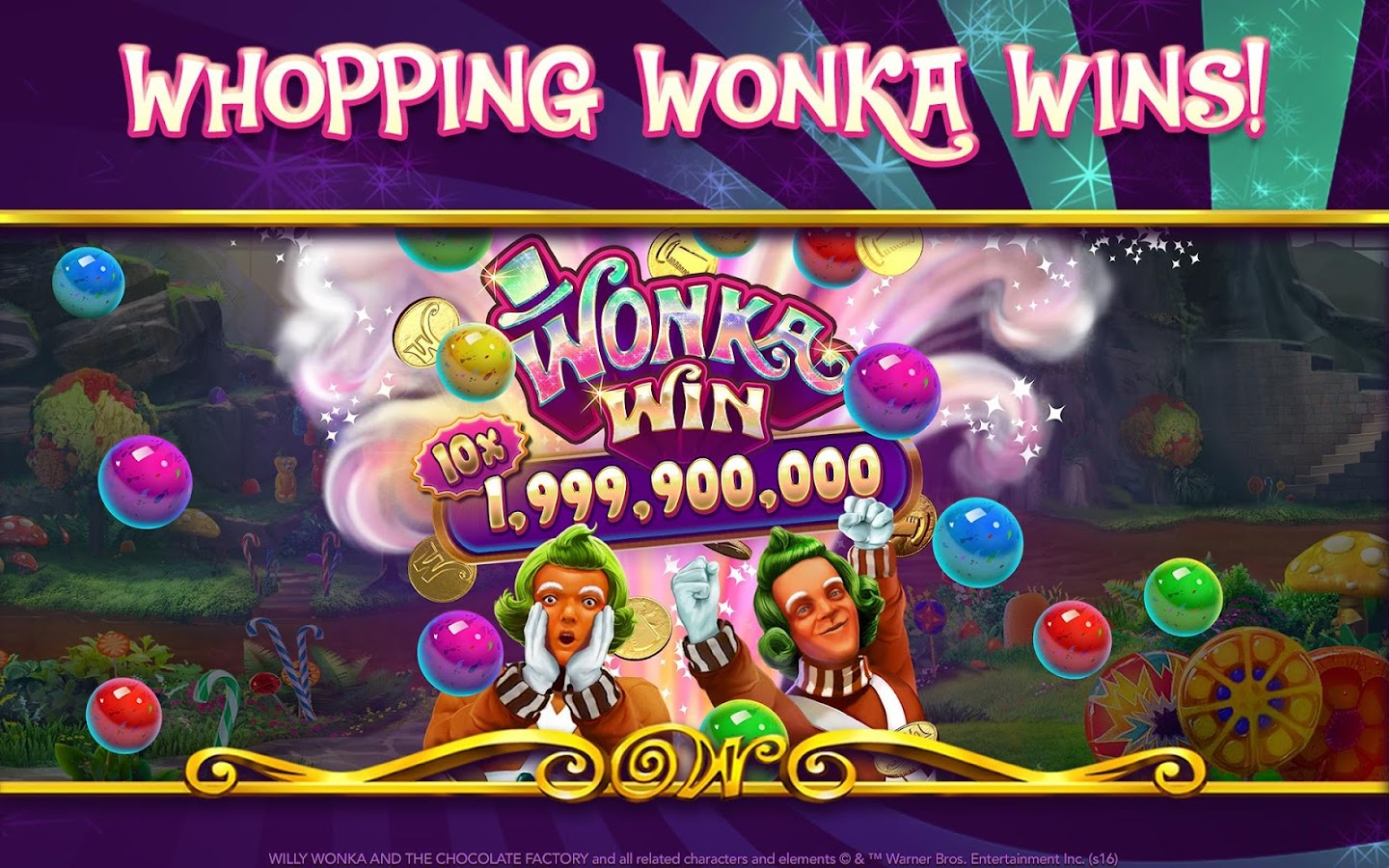 play willy wonka and the chocolate factory slot machine