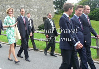 Photo: in front Prince Nikolaus, Prince Georg,. Prince Joseph Wenzel  followed by Hereditary Prince Alois and Hereditary Princess Sophie