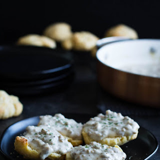 Corn Biscuits and Sausage Gravy.