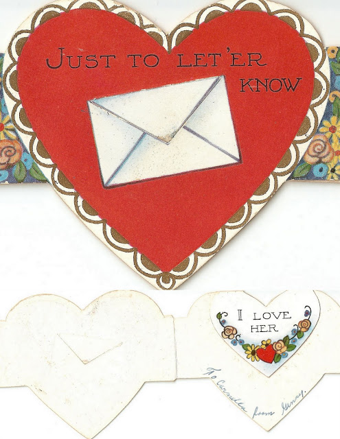 antique vintage valentine letter heart sweet lovely old