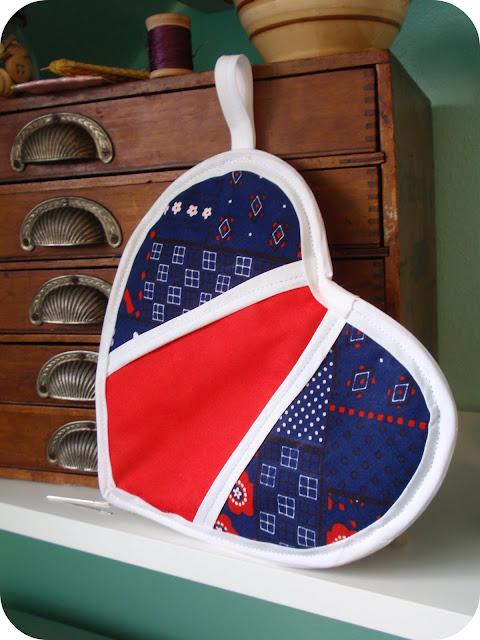 heart potholder