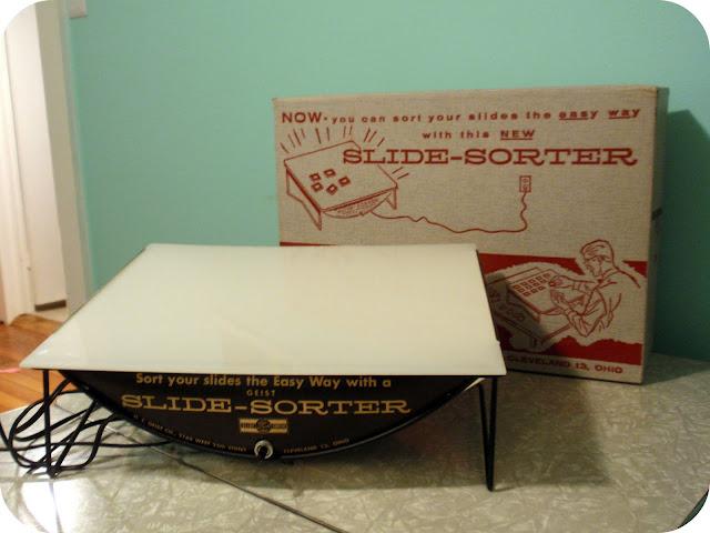 vintage slide sorter lightbox