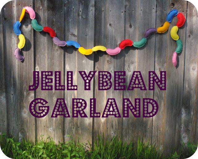 felt jellybean garland tutorial