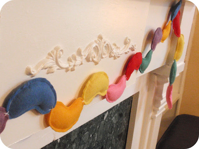 felt jellybean garland tutorial