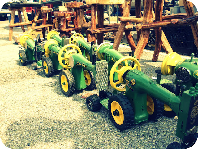 antique sewing machine tractors