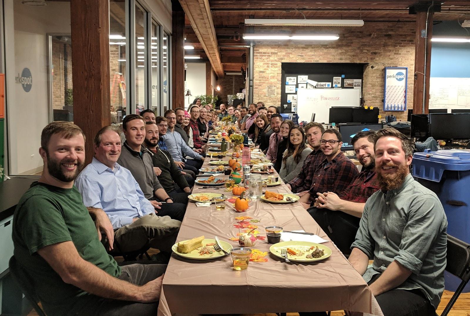 PerkSpot's team gathering in a restaurant