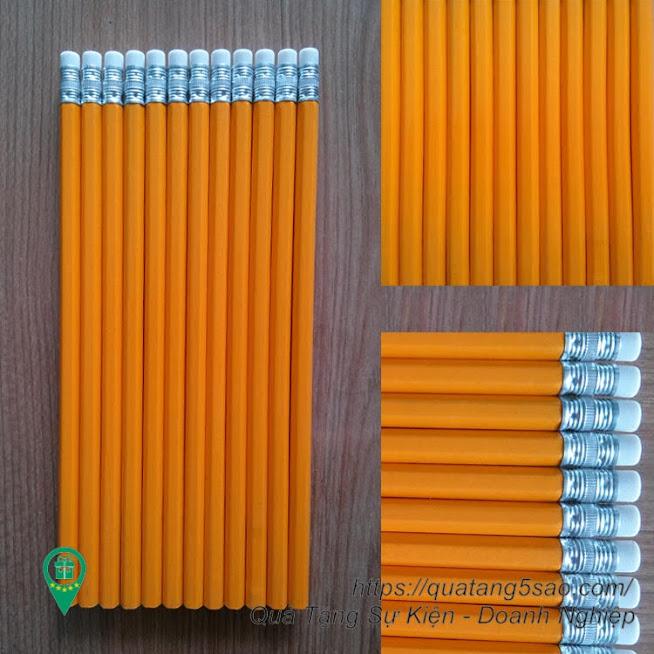Bút chì 6 cạnh có tẩy in ấn theo yêu cầu