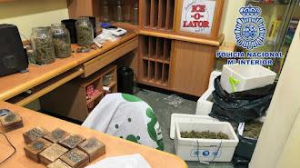 Imagen de la sede difundida por la Policía Nacional.