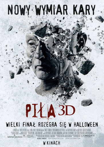 Przód ulotki filmu 'Piła 3D'
