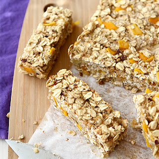 Low Fat Granola Bars with Mango, Hazelnut & Ginger.