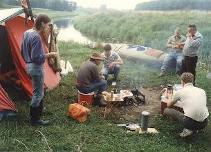 Photo: 1985 (Ems): Gemächliches Frühstück