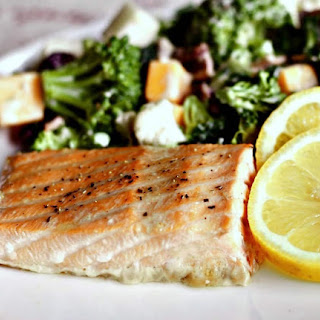 Easy Maple Baked Salmon.