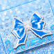 Shine Blue Glitter Diamond Bow keyboard Theme