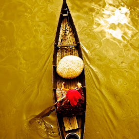 The Golden Way by Agung Cahyono - Transportation Boats