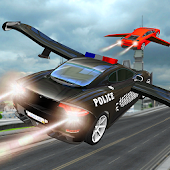 Police Car Flying Chase