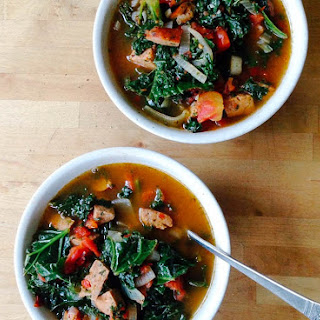 Kale-Sausage Minestrone Soup.