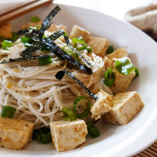 Chilled Tofu and Noodles With Ginger.
