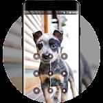 bright cute puppy pet lock theme Icon