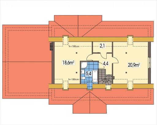 Anita wersja B z podwójnym garażem - Poddasze do adaptacji