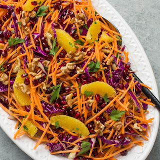 Shredded Cabbage and Sweet Potato Slaw.