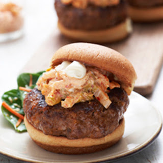 Korean BBQ Burgers with Sweet and Sour Slaw