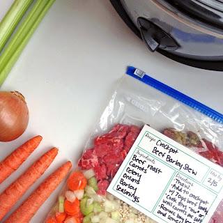 Freezer Crockpot Beef Stew