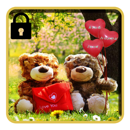 Love theme teddy bear lock