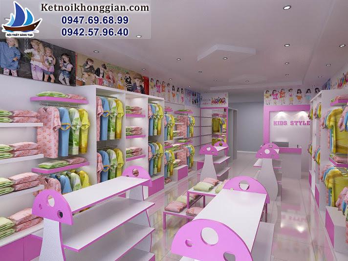 thiết kế shop thời trang trẻ em chuyên nghiệp và sáng tạo