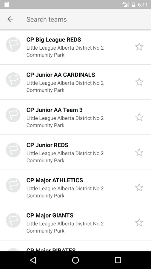 Edmonton Little League- screenshot