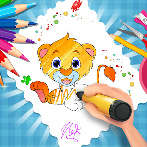 Animals Coloring Game For Kids  : Coloring Pages Icon