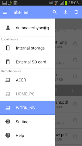 android abFiles (Acer Remote Files) Screenshot 7