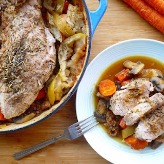 Roasted Pork Tenderloin with Figs, Apples, and Carrots (Paleo, GF)