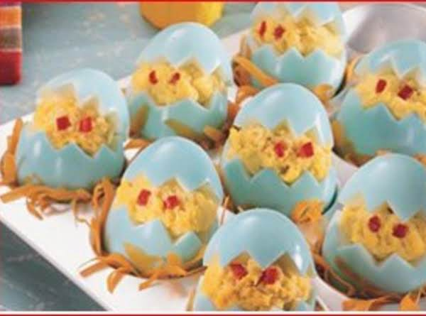 Chicken Little Stuffed Eggs Recipe