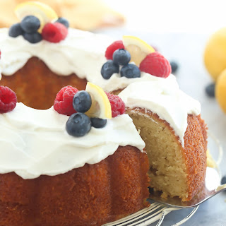 Greek Yogurt Lemon Bundt Cake + RECIPE VIDEO.