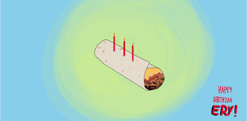 Floating Birthday Burrito (the Burrito Challenge)