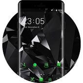 Cool Black Launcher Neon Green Upcoming Tech Theme