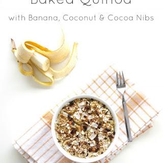 Baked Quinoa with Banana, Coconut & Cocoa