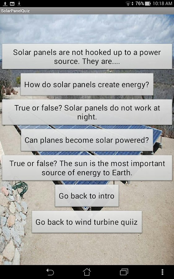 Wind Turbine and Solar Panel- screenshot