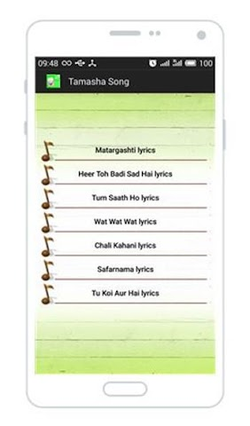 android All Songs of Tamasha Screenshot 1