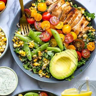 Chicken Ranch Kale & Quinoa Bowls.