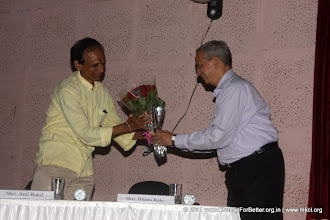 Photo: Shri. Bhanu Kale welcoming Shri. Anil Bokil