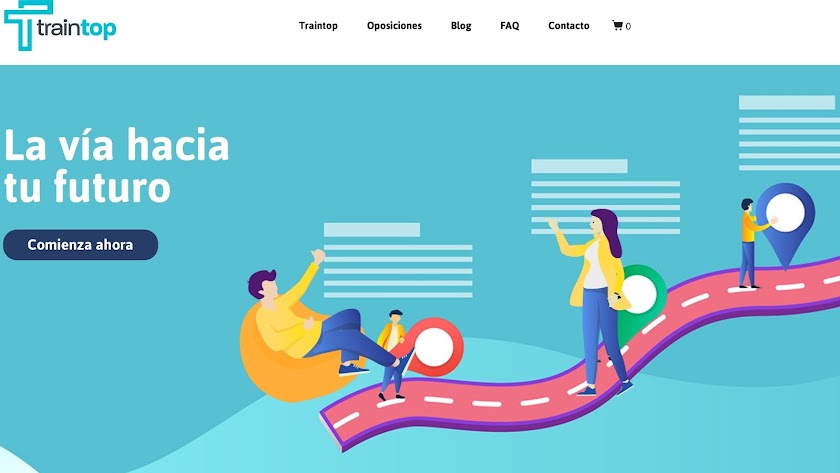 Aula Formación, centro de oposiciones, presenta www.traintop.es.