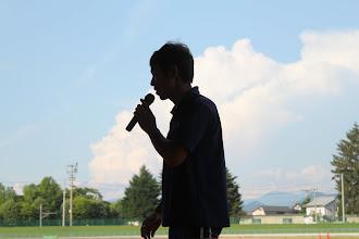 Photo: 閉会式、渡邉先輩より対抗戦の結果が告げられまして。。。