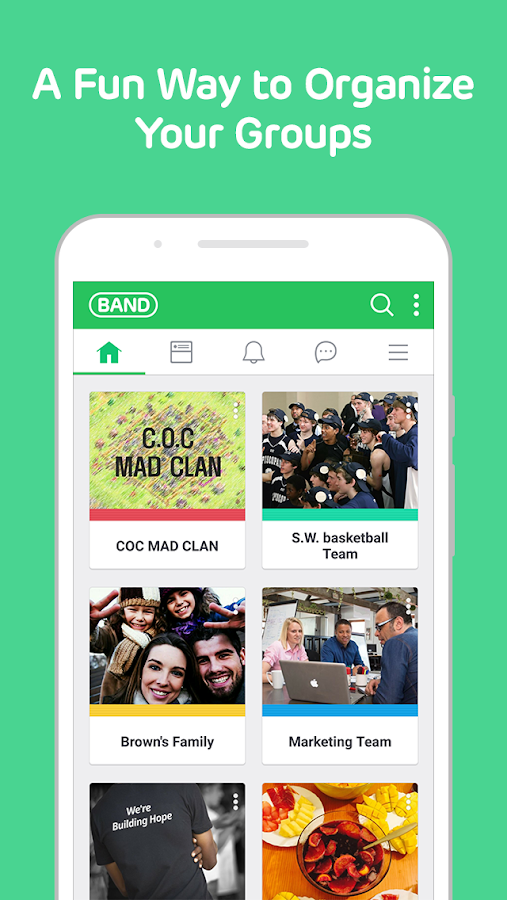 Screenshots of BAND - Groups & Communities for iPhone