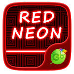 Red Neon GO Keyboard Theme 3.87 Apk