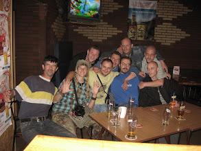 """Photo: Z miejscowymi wyjadaczami w barze """"u Kaśki"""" :)"""