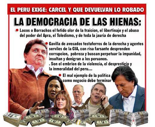 Resultado de imagen para mal politicos en el perú